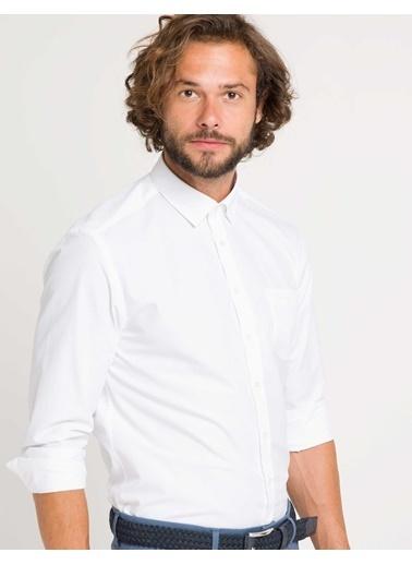 Pierre Cardin Uzun Kollu Gömlek Beyaz